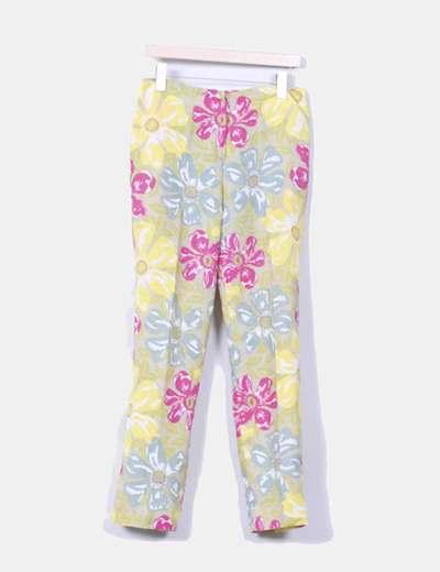 Pantalón estampado floreado multicolor Naf Naf
