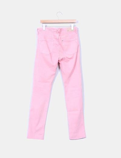 Pantalon vaquero rosa palo