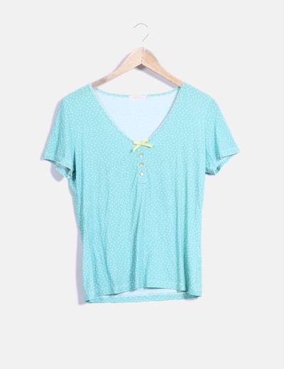 Camiseta verde con topos Lloyd's