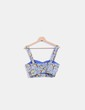 Crop top azul estampado Zara