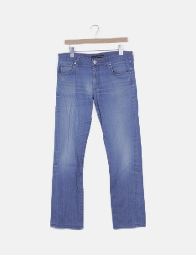 Pantalón denim regular slim