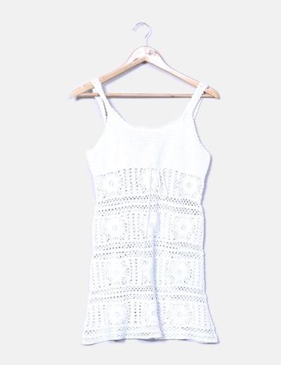 Robe blanche à bretelles Pepe Jeans