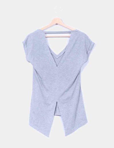 Camiseta gris print