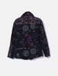 Abrigo negro bordado NoName
