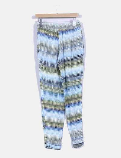 Pantalon suelto estampado