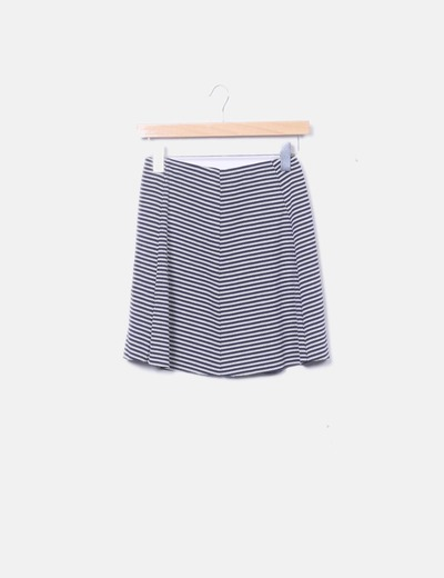 Jupe tricot marin Bershka