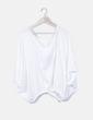 Camiseta blanca con elástico Stradivarius