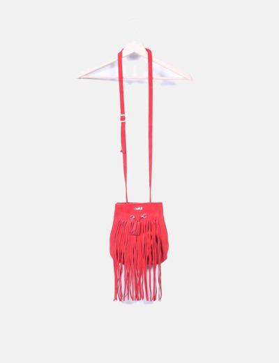 d1b350add Cuplé Bolso bombonera ante rojo con flecos (descuento 29%) - Micolet