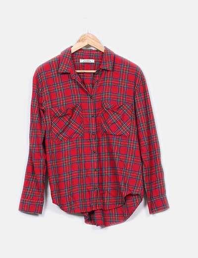 Camisa leñador roja Pull&Bear