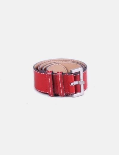 Cinturón rojo acharolado Georges Rech