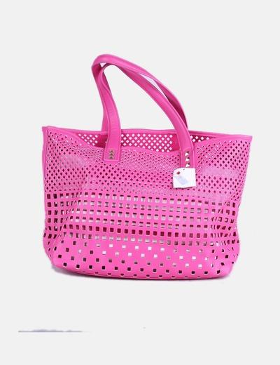 Bolso shopper rosa fucsia troquelado
