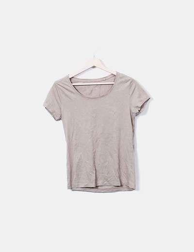 T-shirt marron à manches courtes C&A