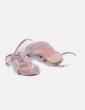 Sandalias terciopelo rosa Stradivarius