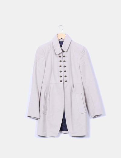 32de94f472134 Zara Manteau blanc de style militaire (réduction 73%) - Micolet