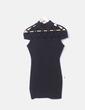 Vestido negro con cruzados en el pecho Kivenat
