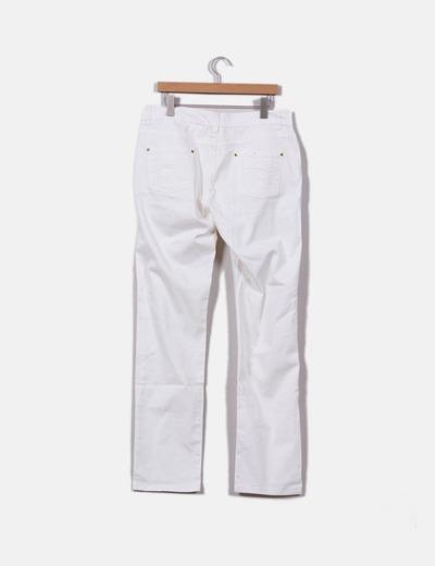 a6f647423e Cortefiel Pantalón blanco de pata recta (descuento 98%) - Micolet