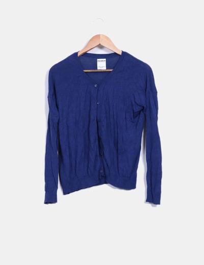 Cárdigan tricot azul marino Pull&Bear