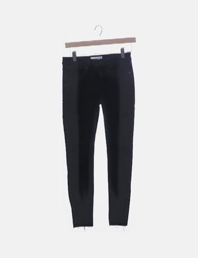Jeans denim high waist negro