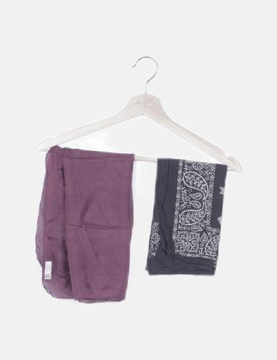 Pack dos pañuelos combinados