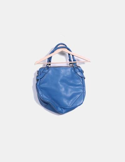 Bolso shopper polipiel azul