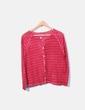 Chaqueta tricot roja calada MALOKA