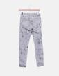 Jeans denim pitillo gris tie dye Zara