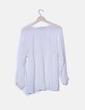 Blusa gasa bordado blanco Zara