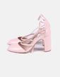Zapato rosa con cuerdas Stradivarius