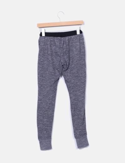 Pantalon de chandal gris jaspeado