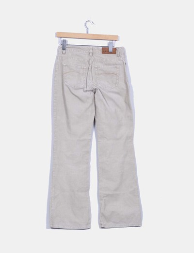 Pantalon beige de pana