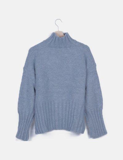 Jersey azul glitter cuello alto