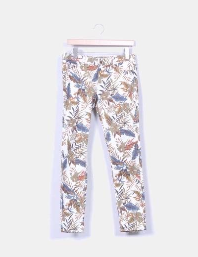 Jeans denim estampado floral Zara