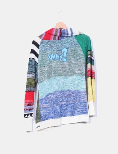 Chaqueta tricot estampada