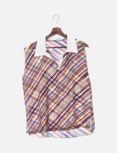 Blusa plisada estampado colores