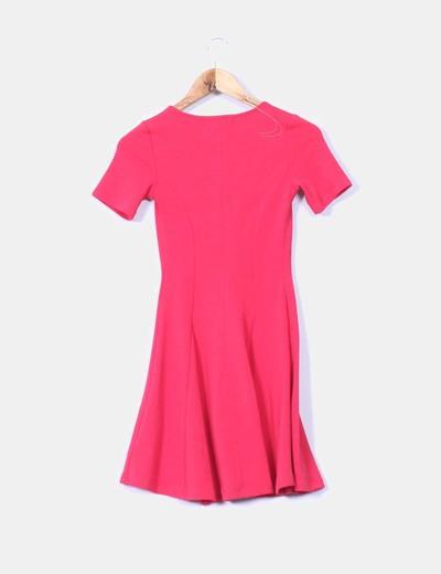 Vestido rojo texturizado