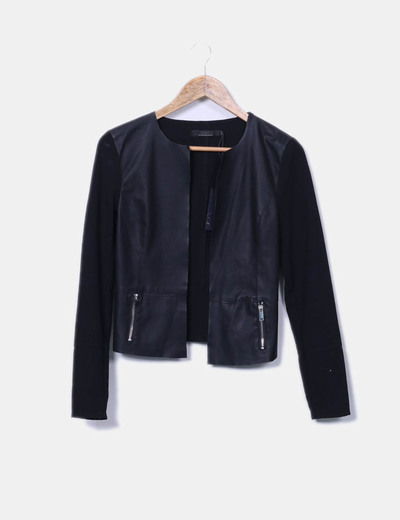 ONLY Schwarze Pullover kombiniert mit Kunstleder (Rabatt 74 %) - Micolet f9cc8456c3