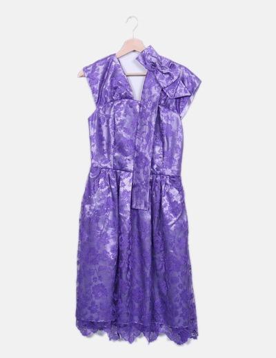 Vestido de encaje morado NoName