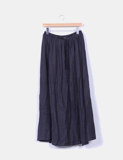 Falda maxi negra Zara