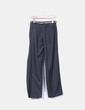 Pantalón gris marengo recto detalle cinturón Zara