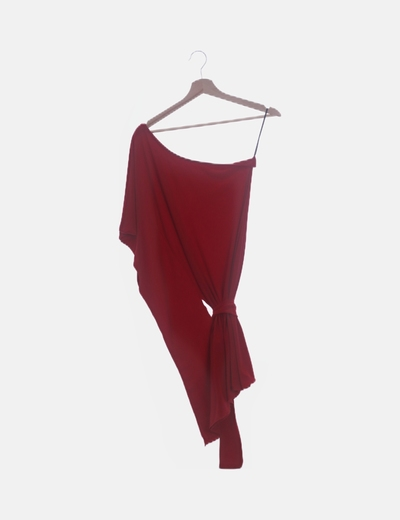 Vestido rojo un tirante