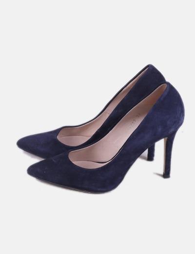 Stiletto azul terciopelo