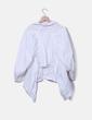 Camisa blanca corta asimétrico Uterqüe