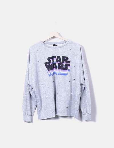 901a12643c2047 Lefties Sudadera gris star Wars (descuento 73 %) - Micolet
