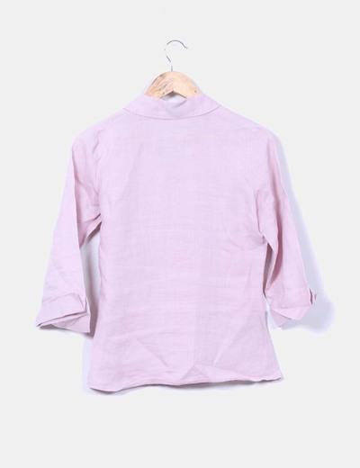 Camisa lila de ramio