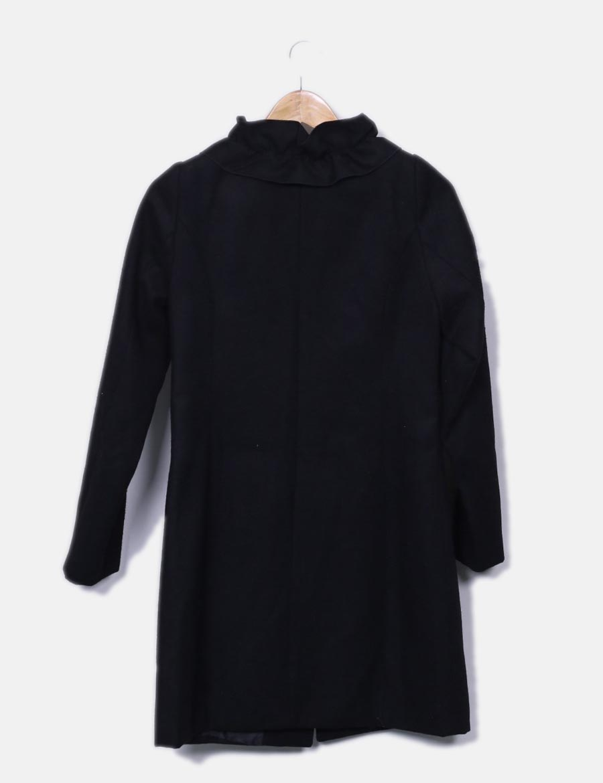 y Abrigos baratos Mujer Chaquetas online detalles Abrigo negro qYqHxEFrw