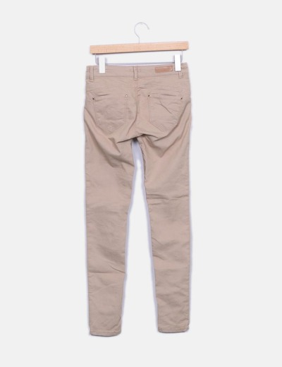 Pantalon beige pitillo