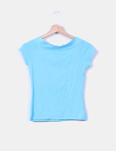 Camiseta turquesa manga corta