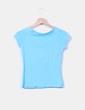 Camiseta turquesa manga corta Zara