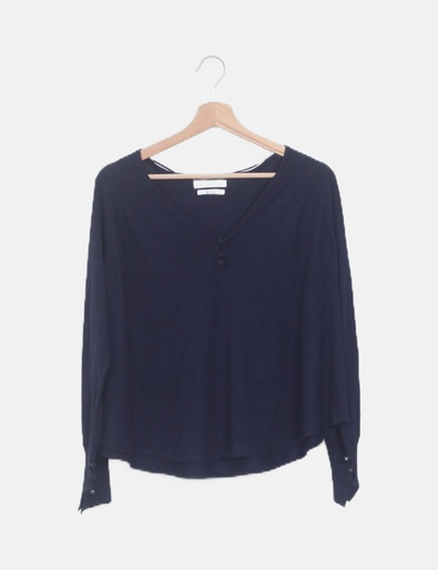 Suéter lana azul marino