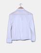 Camisa blanca con bordados en escote  Massimo Dutti